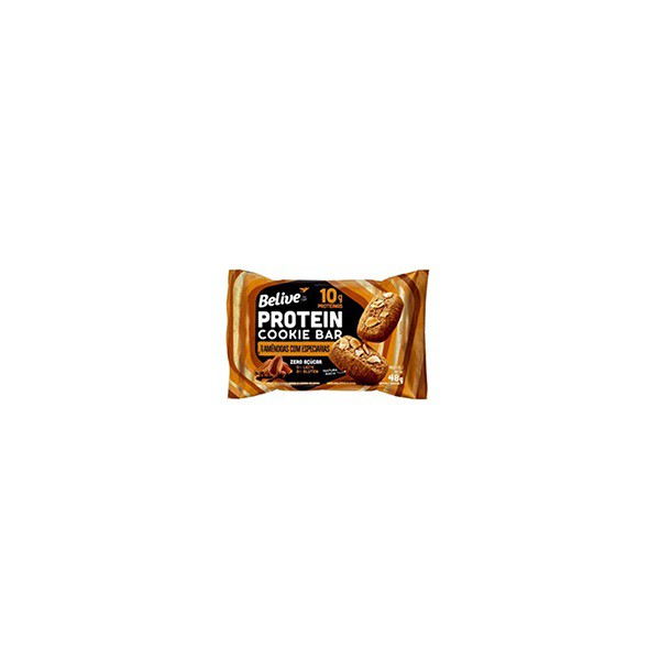 Protein Cookie Belive Amedoas e Especiarias Zero Display 10 x 48g