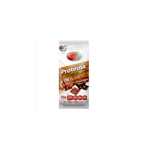 Proteína Chips Sabor Chocolate Display 10 x 20g