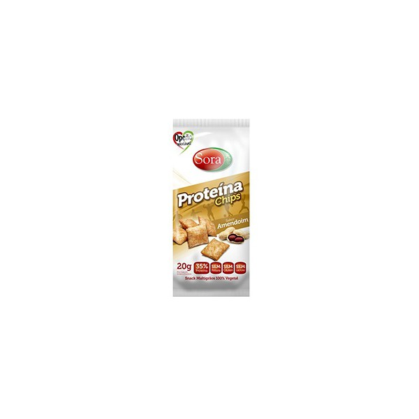 Proteína Chips Sabor Paçoca Display 10 x 20g