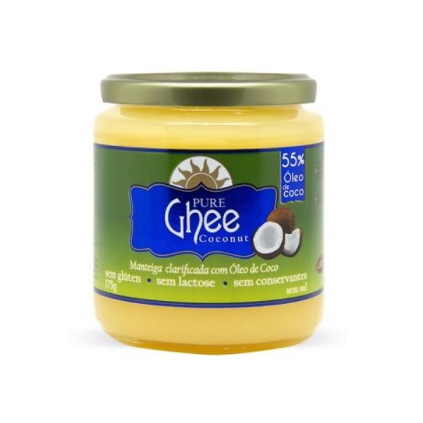 Pure Ghee Coconut Manteiga Clarificada com Óleo de Coco 175g