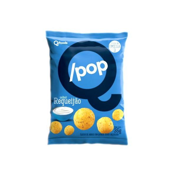 QPop Snack de Arroz com Quinoa Sabor Requeijão 35g
