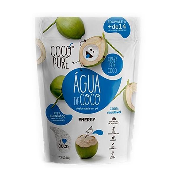 Água de Coco em Pó Refil Energy Cafeína/Taurina 200g