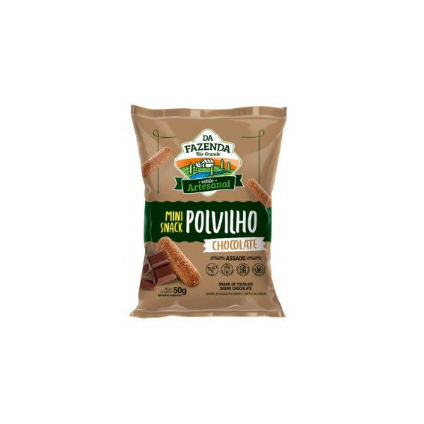 Da Fazenda Mini Snack Polvilho Sabor Chocolate Display 12x50g