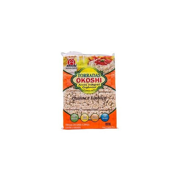 Torradas Arroz Integral Orgânico, Quinoa e Linhaça 24 unidades
