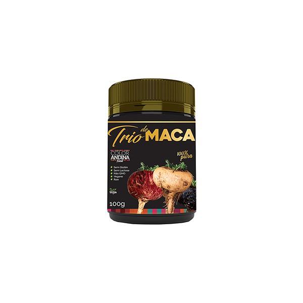 Trio de Maca (Amarela/Preta/Vermelha) em Pó Vegan 100G