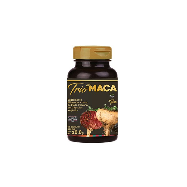 Trio de Maca Vegan 60 x 480mg