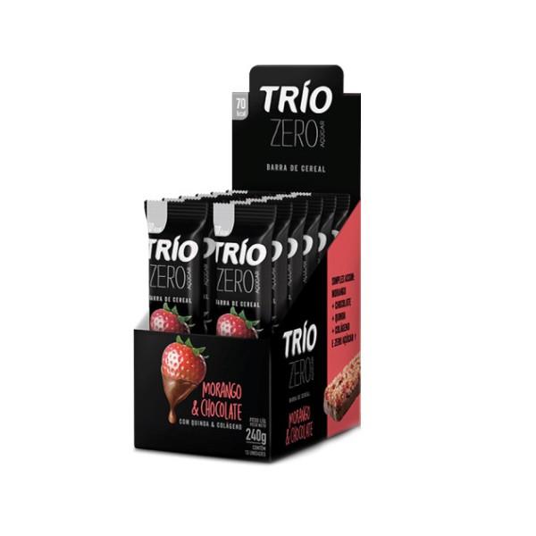 Trio Morango com Chocolate Zero Display 12x20g