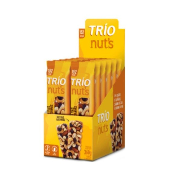 Trio Nuts Tradicional Castanha Display 12x30g
