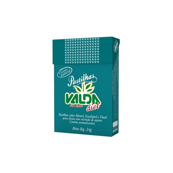 Valda Diet Fliptop Display 12x24g