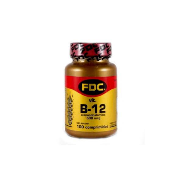 Vitamina B12 Cianocobalamina 100 x 500mcg