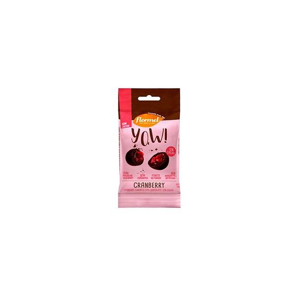 YOW Cranberry com Cobertura Chocolate Zero Display 8x40g