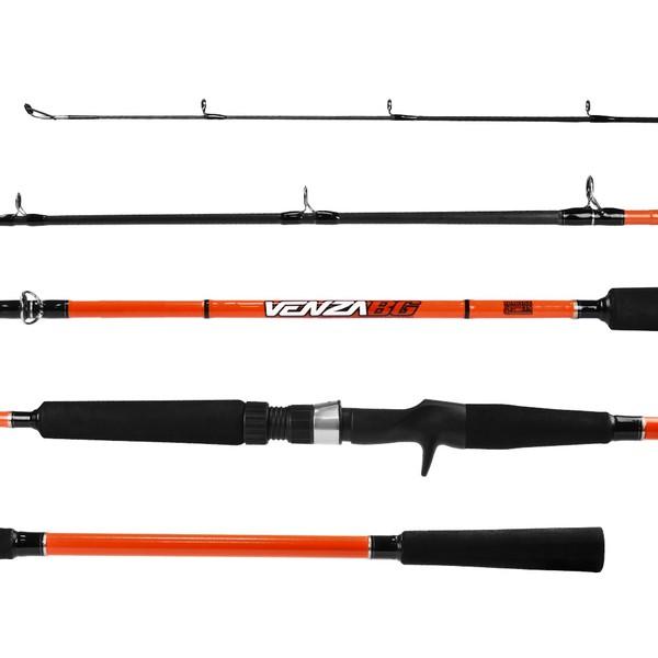"""Vara para Carretilha Marine Sports Venza BG VNZ-C702H 20-50lbs 7'0""""(2,13m) 2 parte (Upset)"""