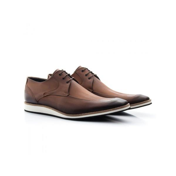 Sapato Casual Oxford Masculino Couro Whisky 363