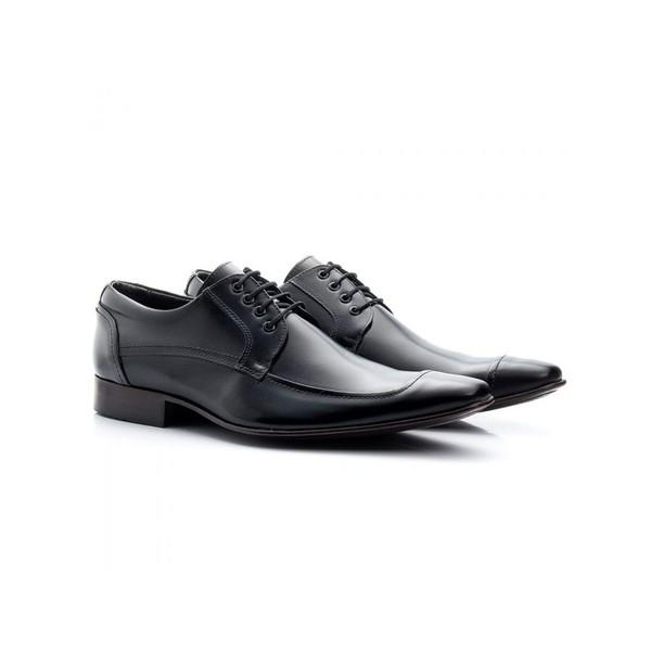 Sapato Social Masculino Couro Preto 371