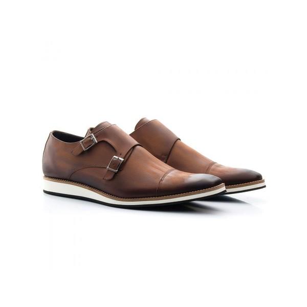 Sapato Casual Oxford Masculino Couro Whisky 521