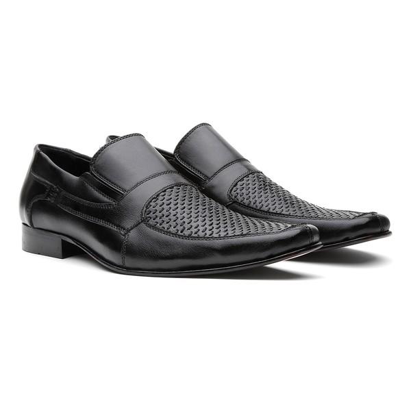 Sapato Social Munique Trissê Pelica Preto