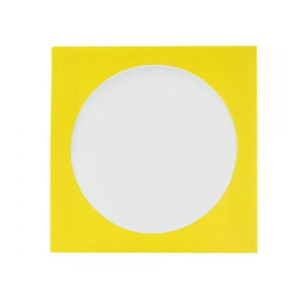 Envelope Papel c/ Visor Amarelo - c/100un.
