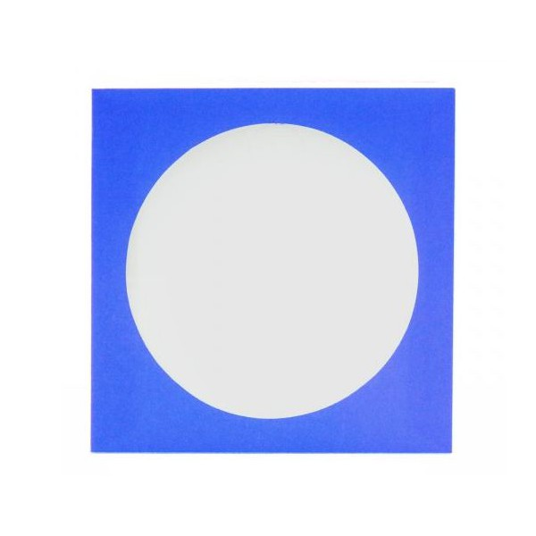 Envelope Papel c/ Visor Azul Claro - c/100un.