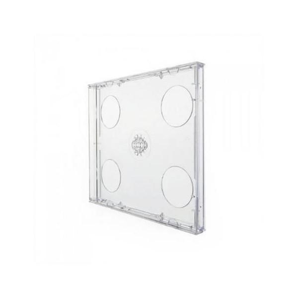 Box CD Acrílico Duplo Transparente c/05UN.