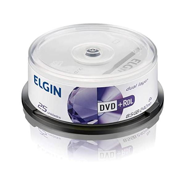DVD+R DUAL LAYER ELGIN 8.5GB LOGO PINO C/25UN.