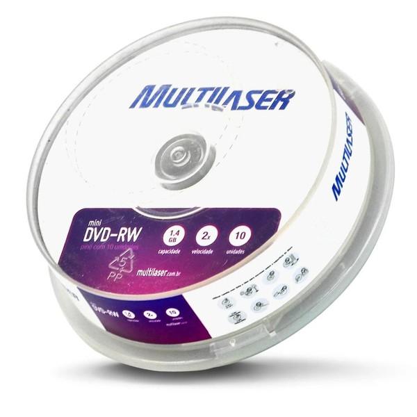 DVD-RW REGRAVÁVEL MULTILASER 4.7GB/ 4X. c/10UN.