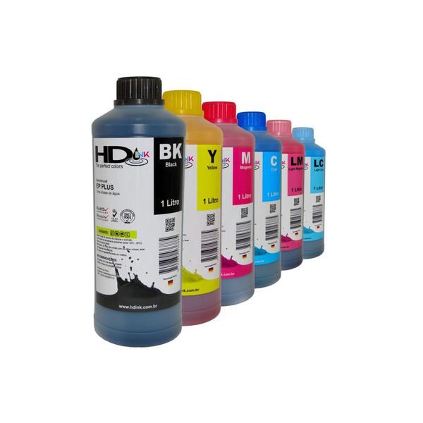 Kit Tinta UV Compatível Epson - 3 Litro - (6 Cores)