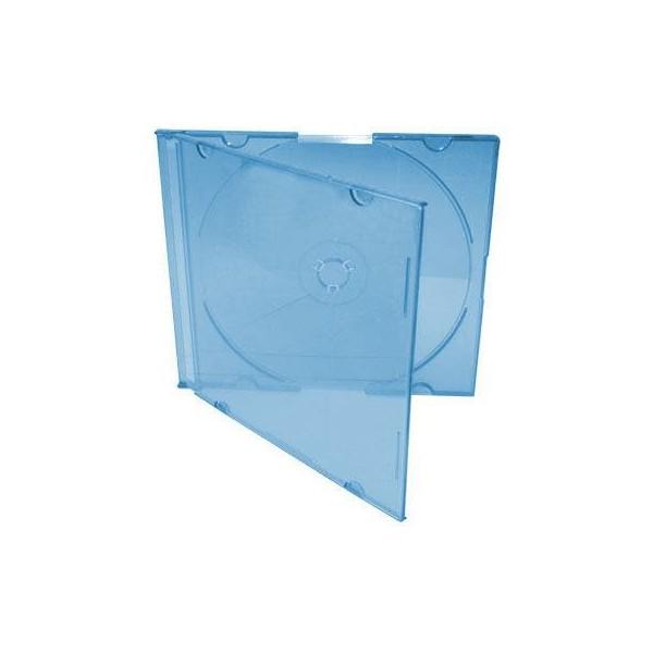 Box CD Acrílico Slim - Azul c/05un.