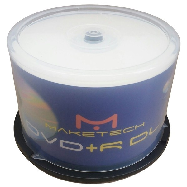 DVD+R DL MAKETECH 8.5GB/ 8x - PRINTABLE C/50UN.