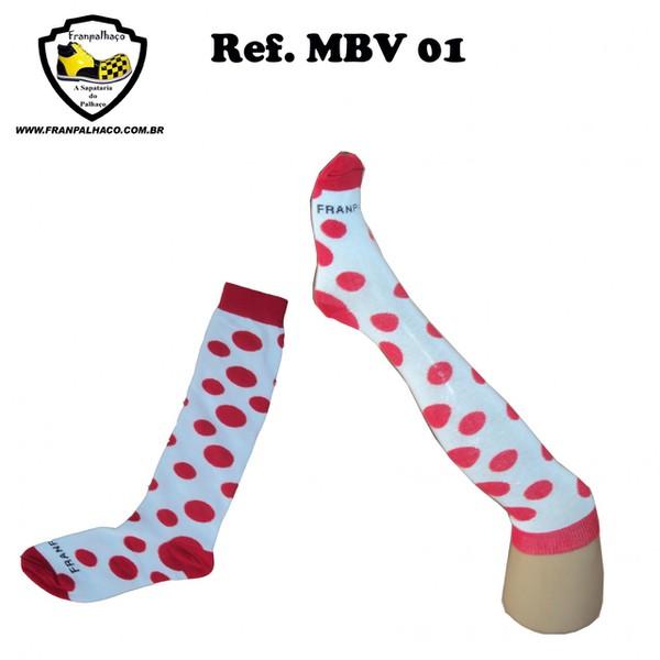 MEIA BOLINHA VERMELHA Ref MBV 01