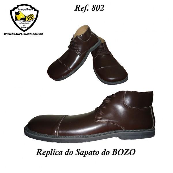 Sapato de Palhaço Marrom Replica Bozo Ref 802