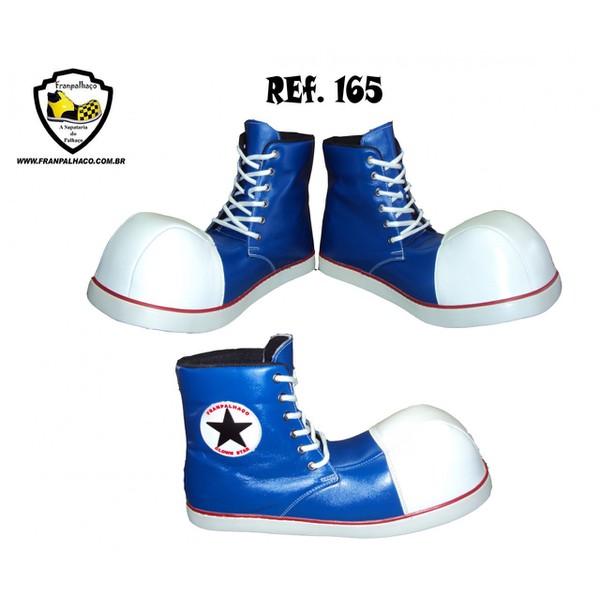 Sapato de Palhaço Clownstar Cano Alto Azul Ref 165