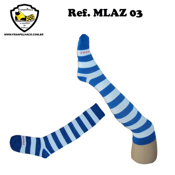 MEIA LISTRADA AZUL Ref MLAZ 03