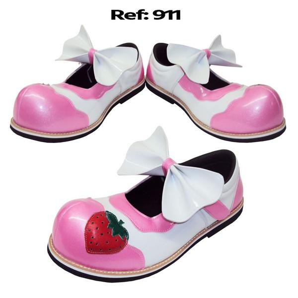 Sapato de Palhaça Morango Infantil