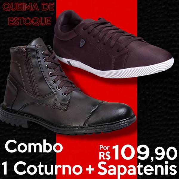 Combo Coturno Café Sapatenis Chocolate Café