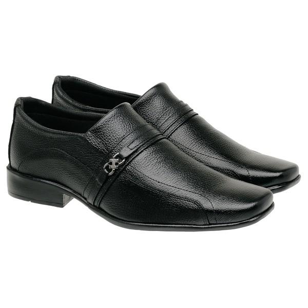 Sapato Social Em Couro Preto 05Fp