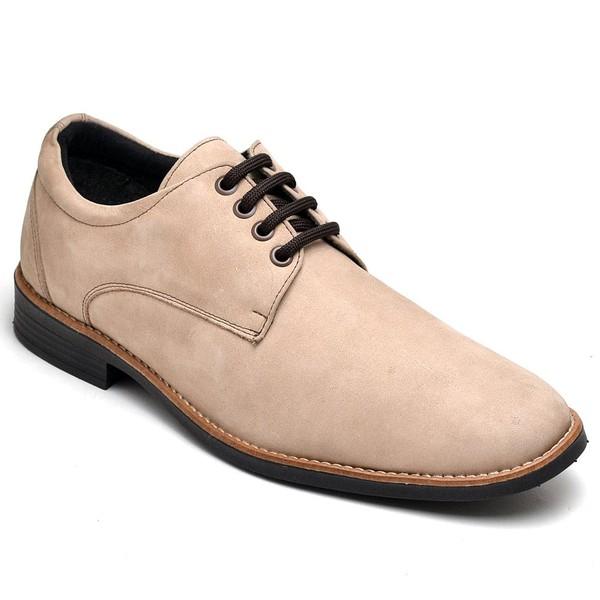 Sapato Social Masculino Esporte Fino Bege