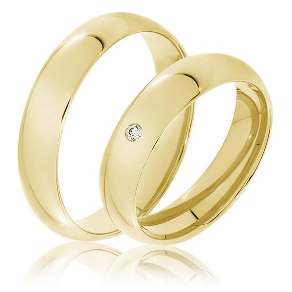 Aliança Clássica de Casamento - Ouro 18k