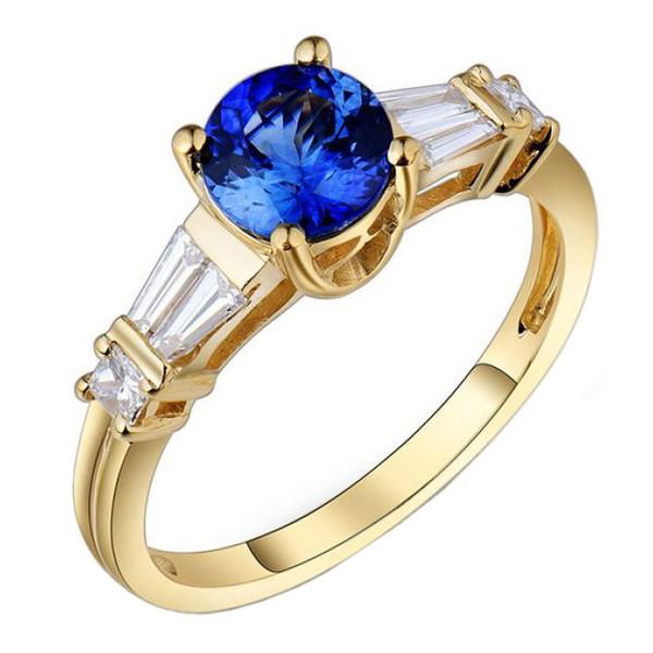 Anel de Formatura com Diamantes Trapézio
