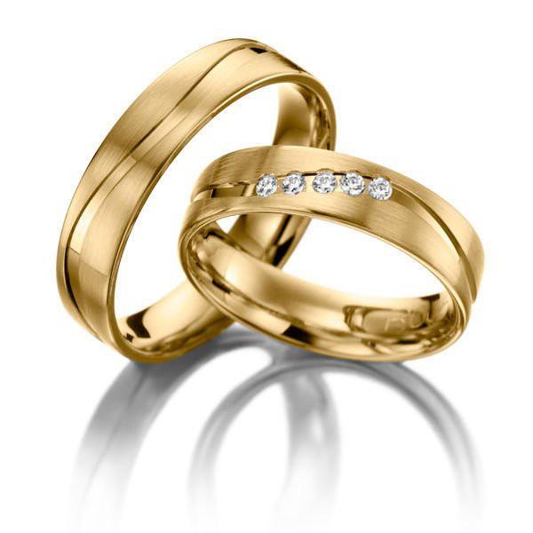 Aliança para Casamento - Ouro 18k - Brilhantes