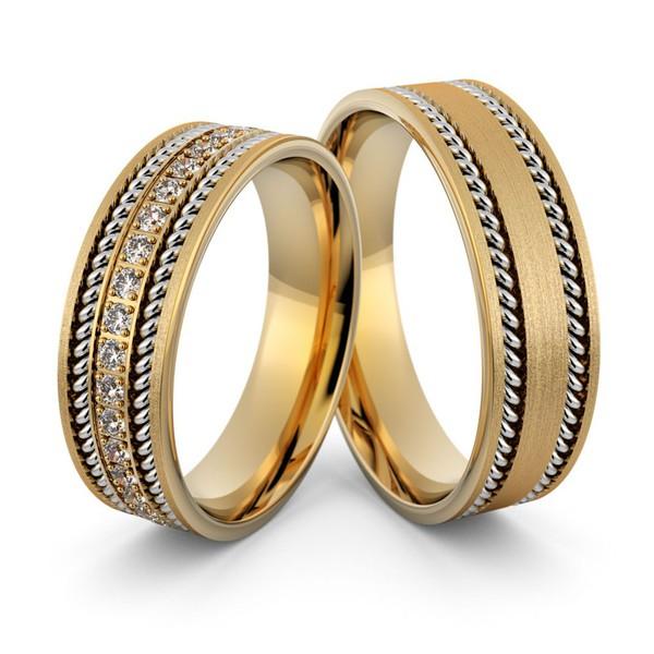 Alianças em Ouro 18k com Diamantes