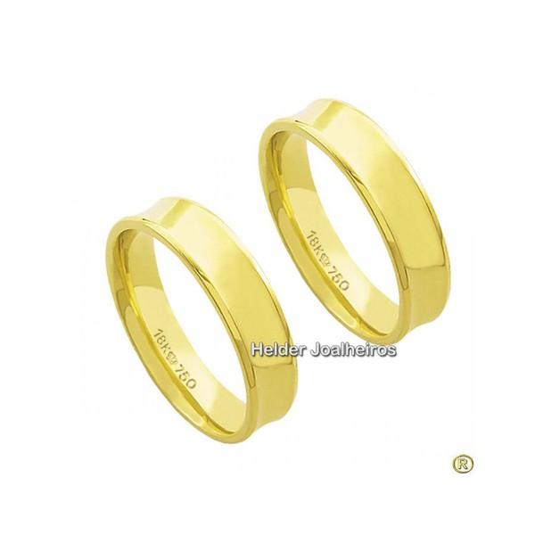 Aliança Casamento em Ouro 18k