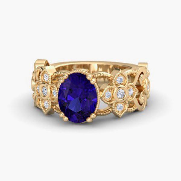 Anel de Formatura Ouro 18k 750 com Diamantes