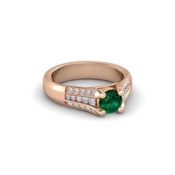 Anel Formatura em Ouro 18k com Diamantes