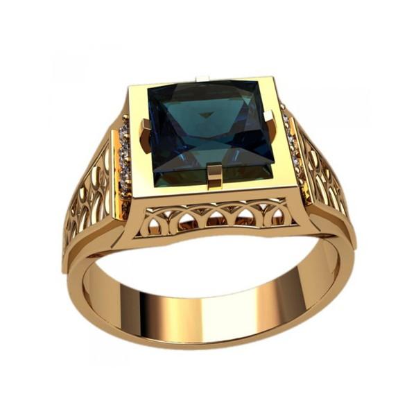 Anel de Formatura em Ouro Amarelo 18k 750