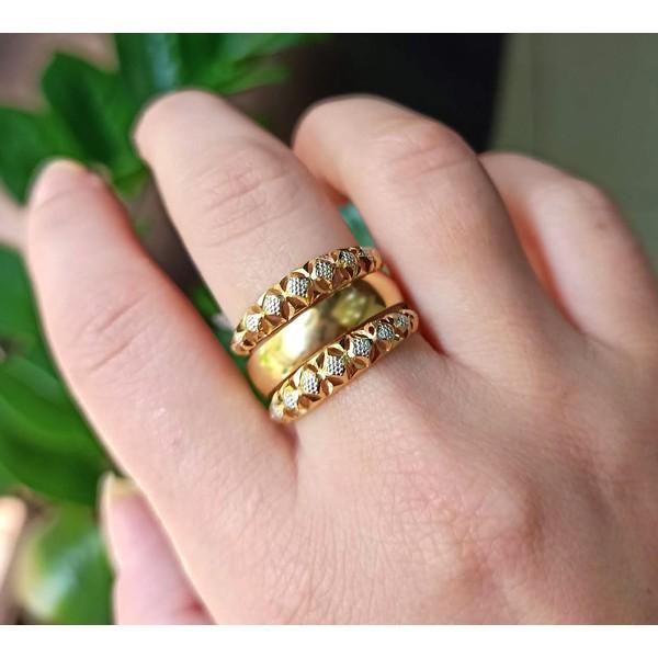 Aparador em Ouro 18k Amarelo e Branco Diamantado
