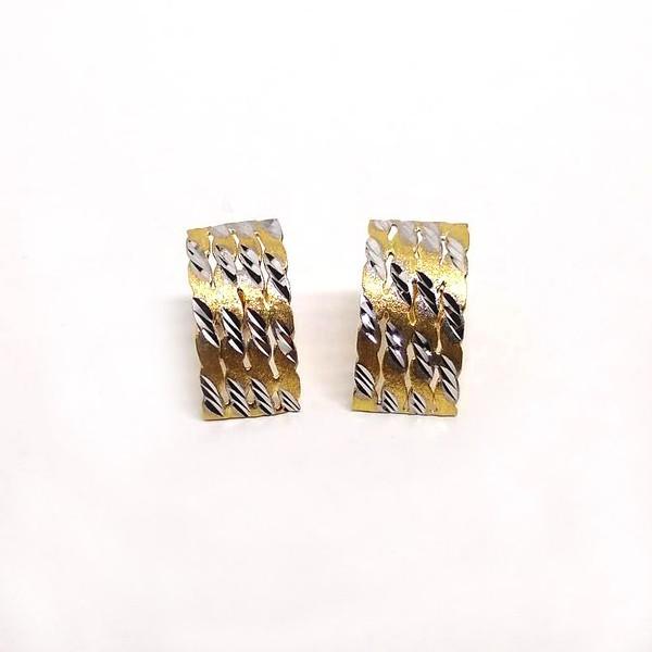 Brinco Retangular Diamantado