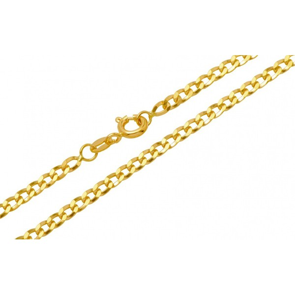 Corrente Grumet Chata 50 cm em Ouro 18k