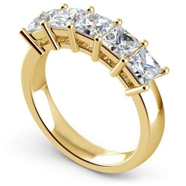 Meia Aliança - Brilhantes Prince - Ouro 18k