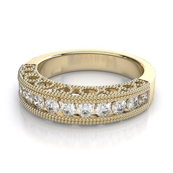 Meia Aliança de Diamantes