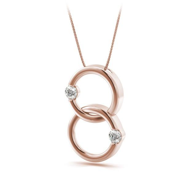 Pingente Elos em Ouro Rosê com Diamantes